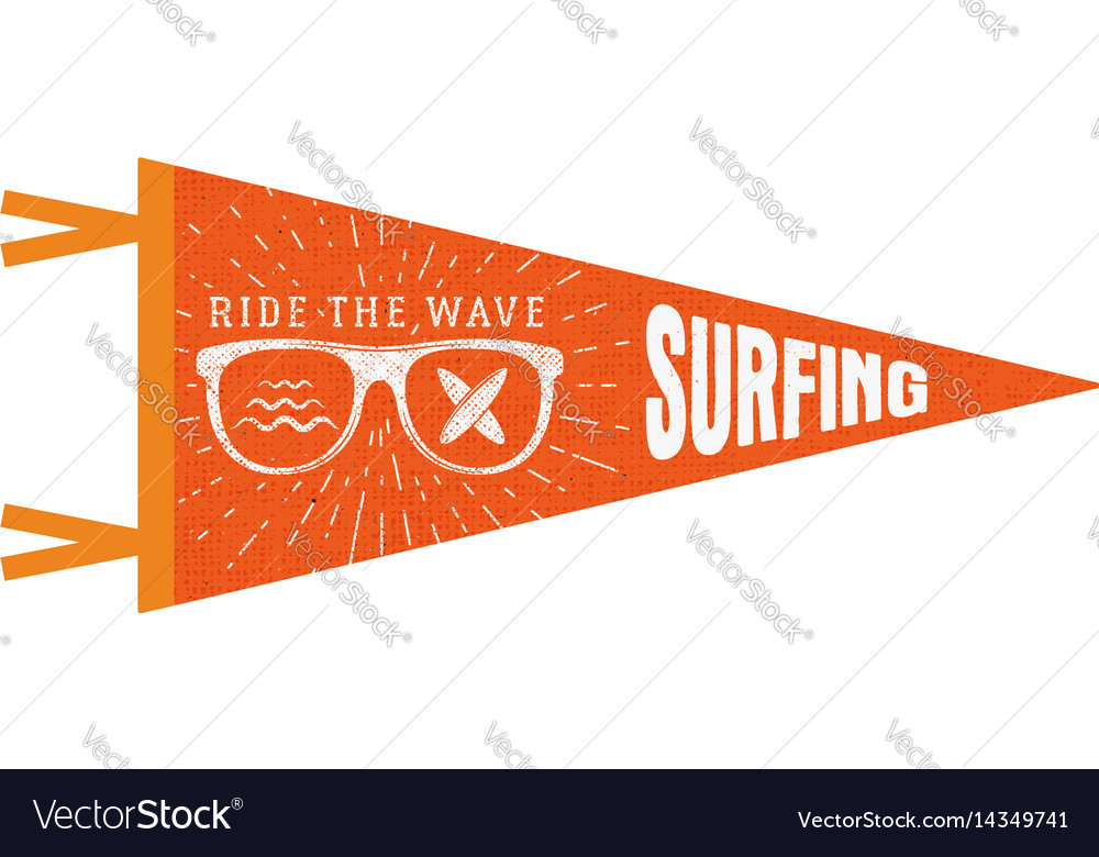Surfing pennant summer pennant flag design