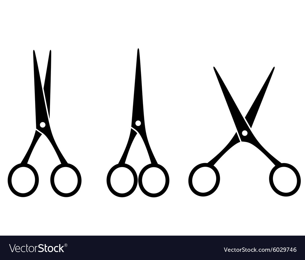 Hair Cutting Scissors Vector 6