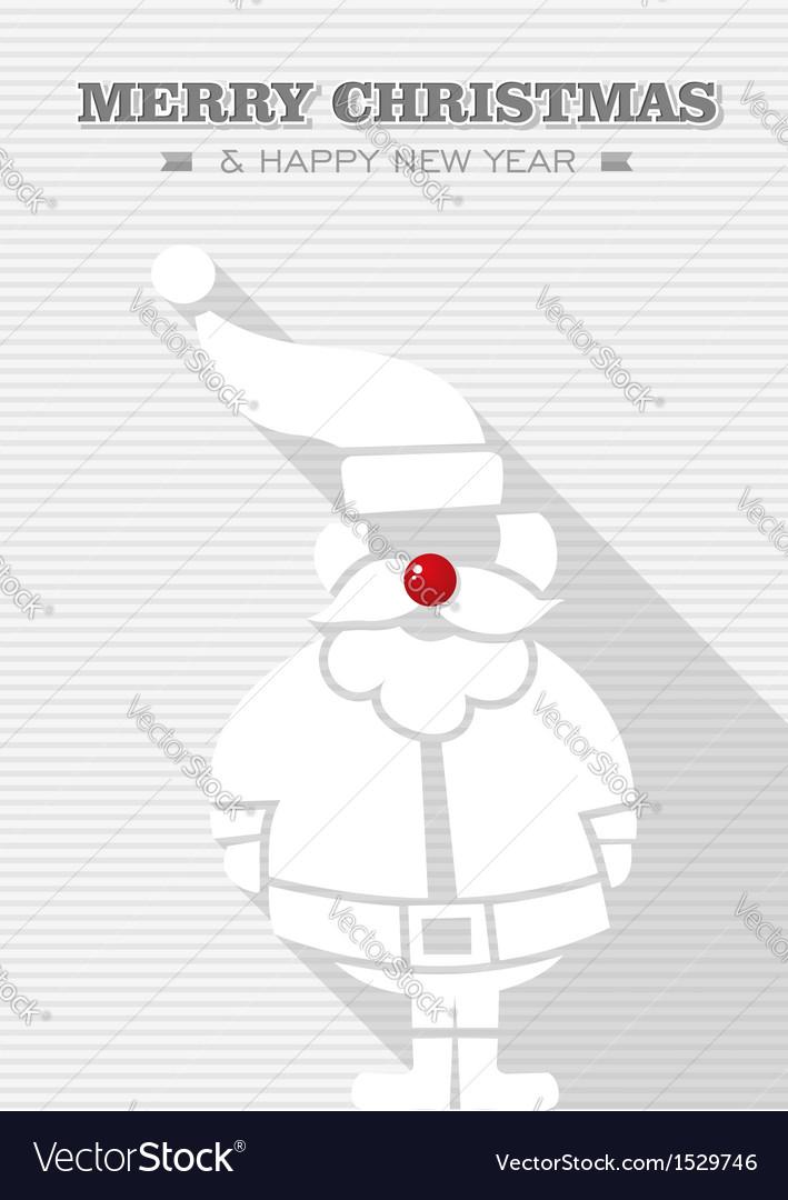 Merry christmas dot white santa claus