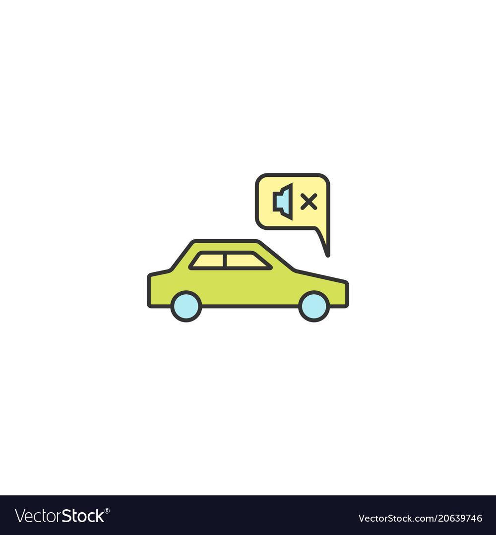 Noiseless electric car drive icon outline linear