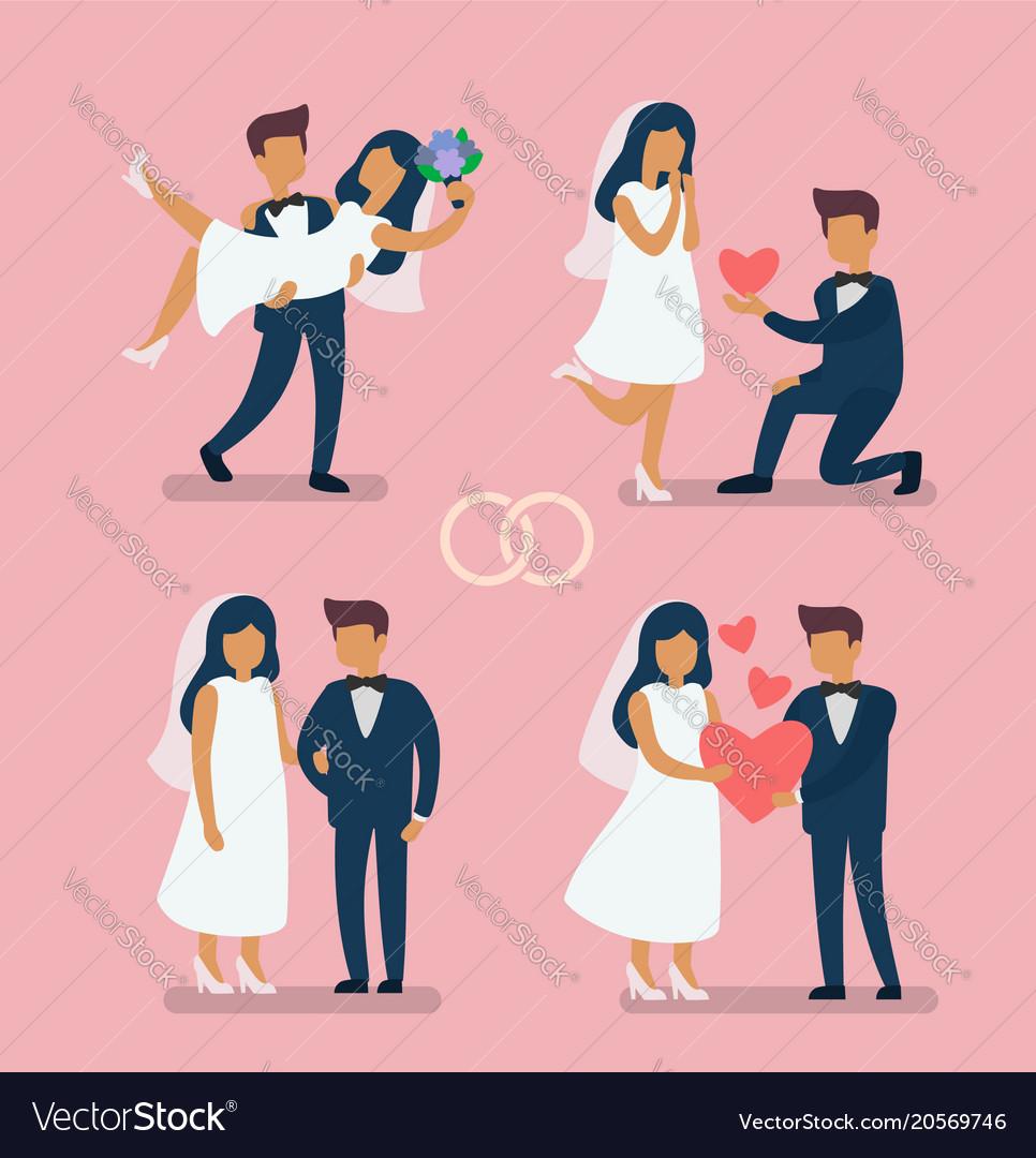 Wedding couple bride