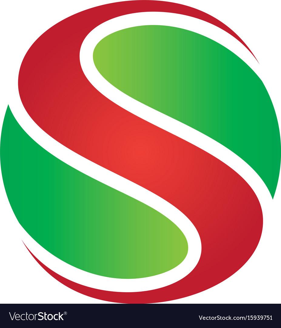Abstract circle s swirl logo