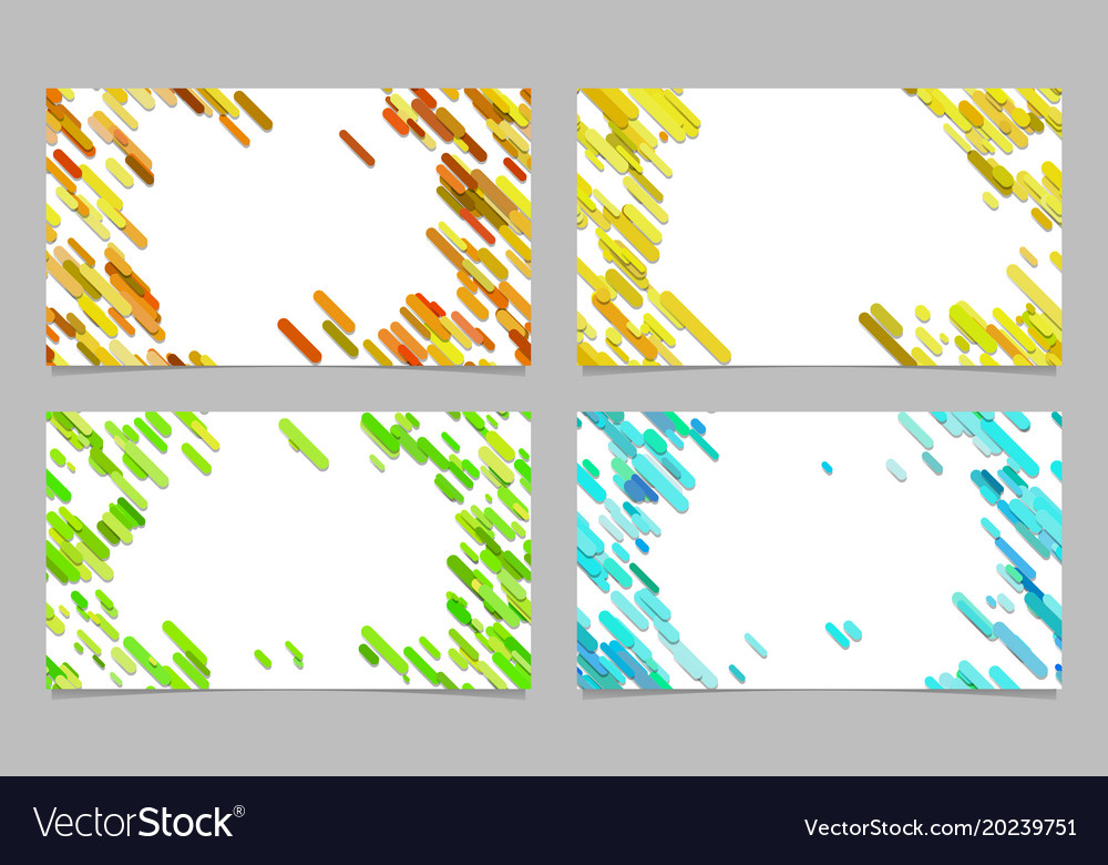 Color abstract business card background set with vector image