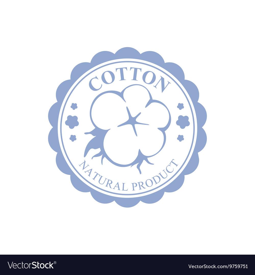 Cotton Blue Product Logo Design vector image