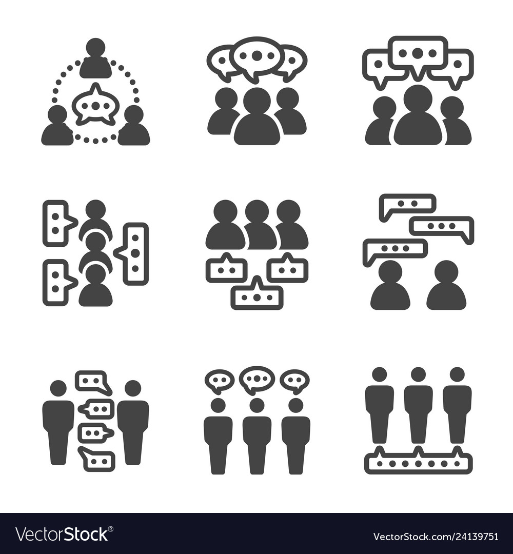 Dialogue people icon