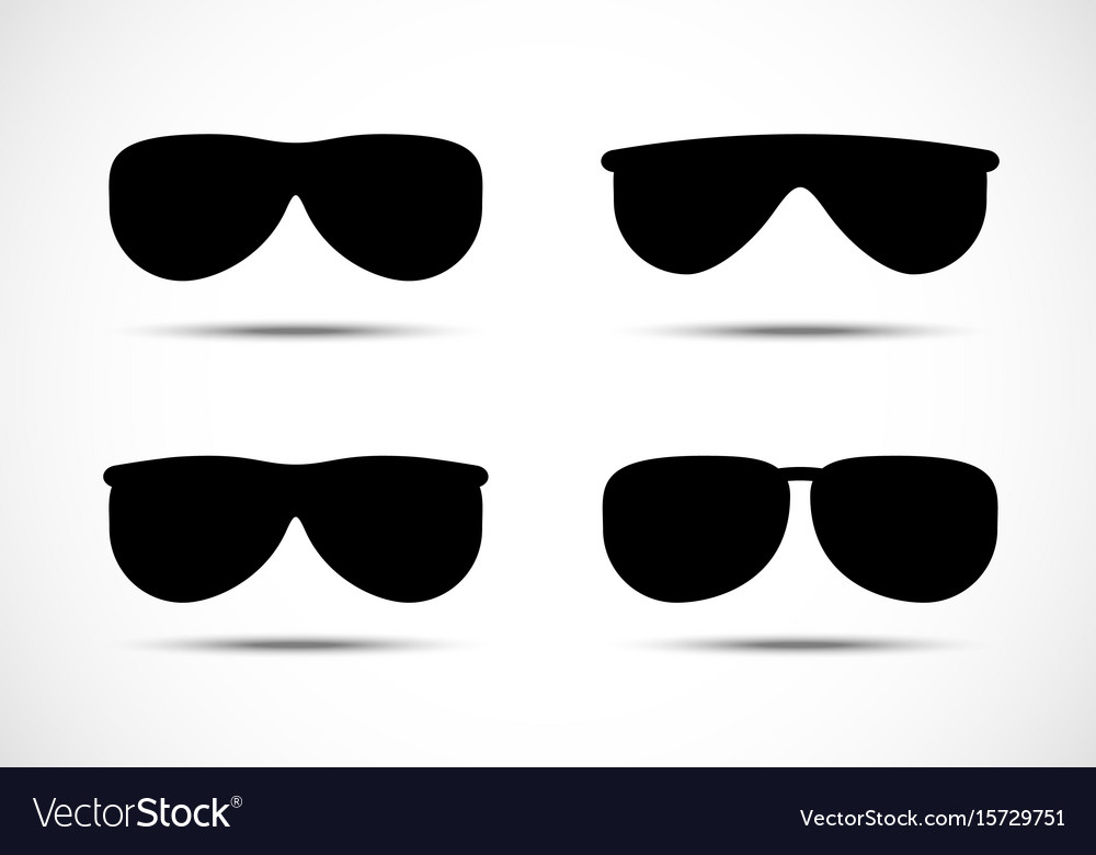 Glasses and sunglasses icons set