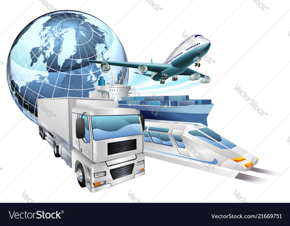 Logistics transport globe concept
