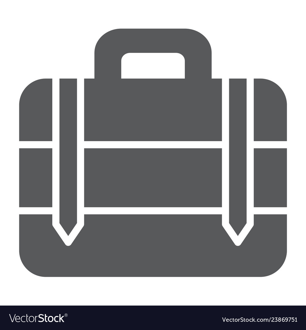 Luggage glyph icon bag and baggage suitcase sign