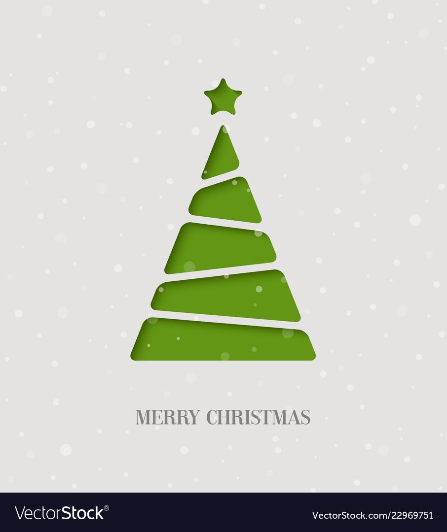 Paper cut christmas tree