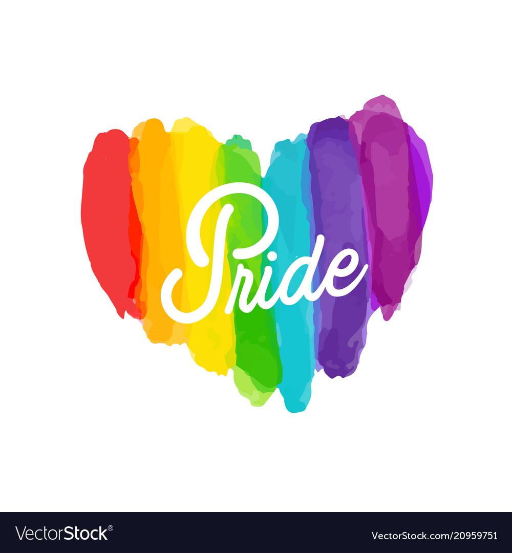 Pride rainbow paint heart background image