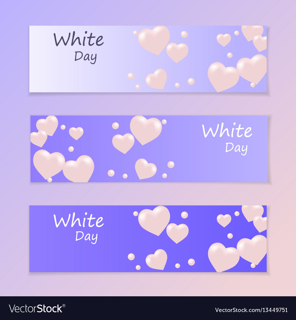 White day flyer or invitation air heart flying