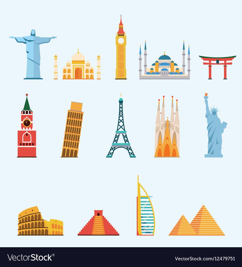 World famous travel landmarks