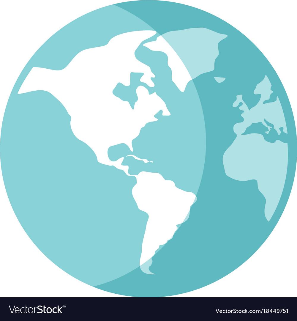 World Globe Cartoon Royalty Free Vector Image Vectorstock