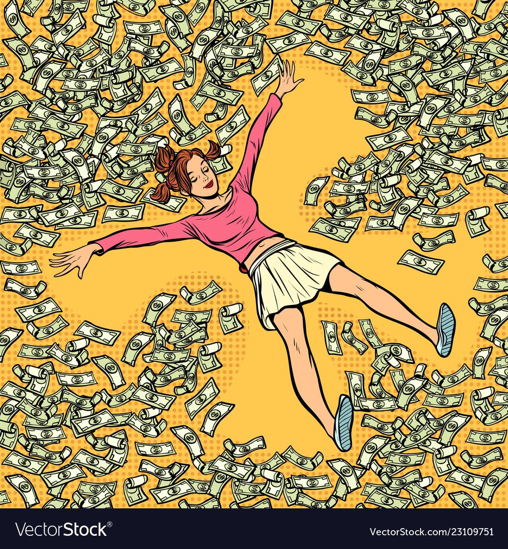 Young Girl Makes Snow Angel Money Dollars A Lot