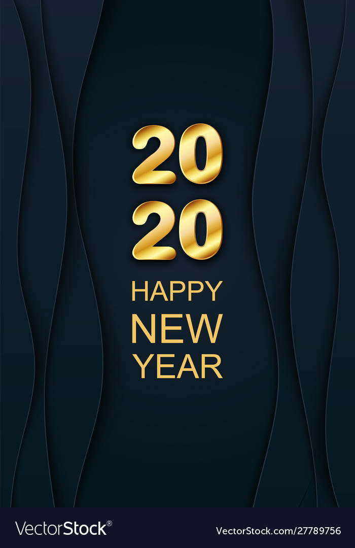 Merry Christmas 2020 3d 3d 2020 golden text chic merry christmas Vector Image
