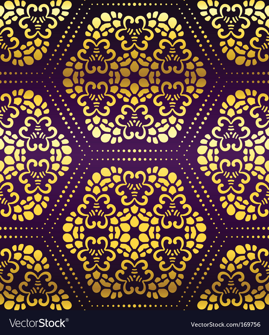 Artistic Wallpaper Pattern Royalty Free Vector Image
