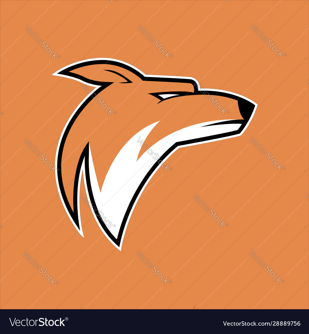 Cool coyote mascot logo for gaming team