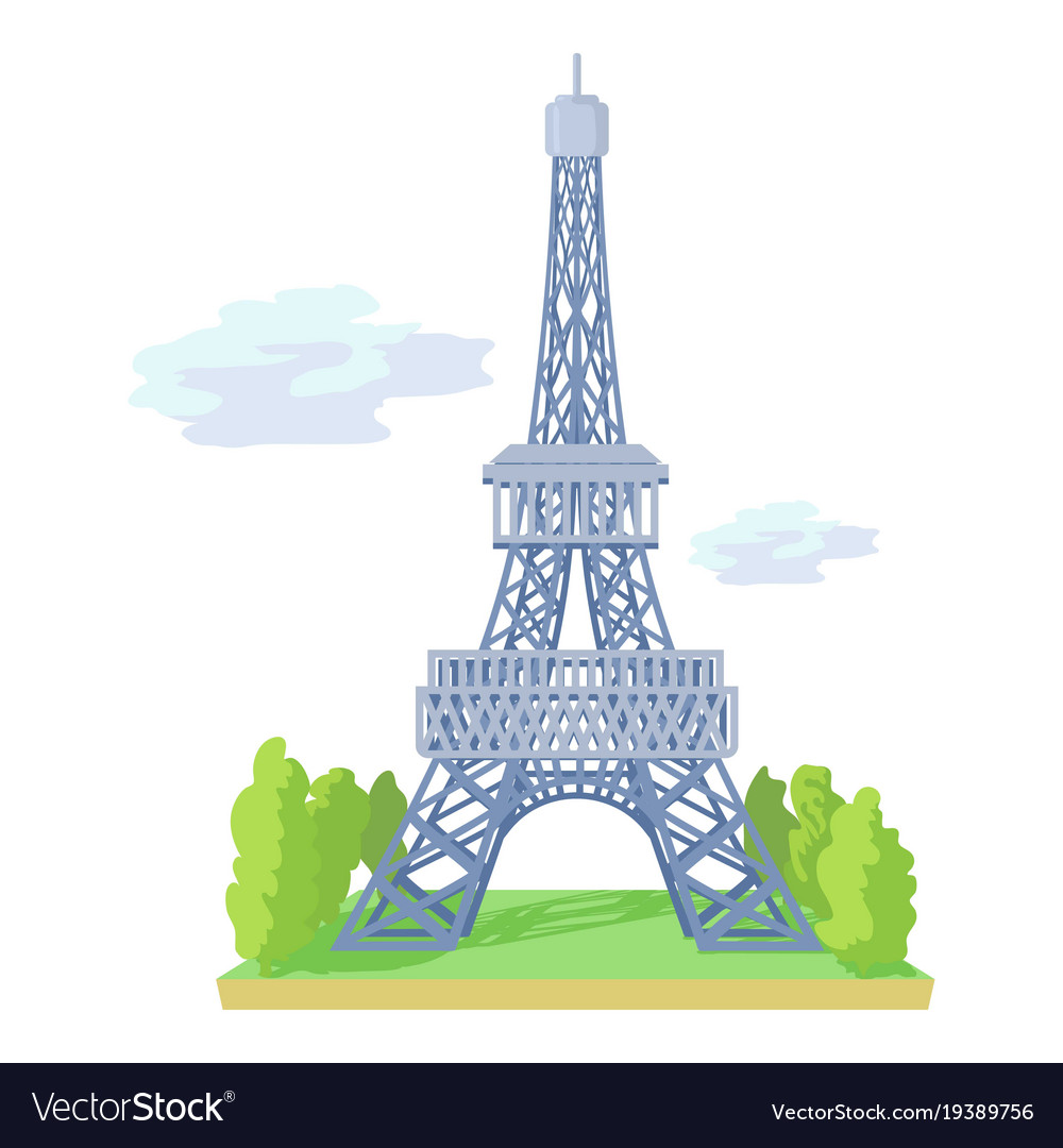 Menara Eiffel Cartoon