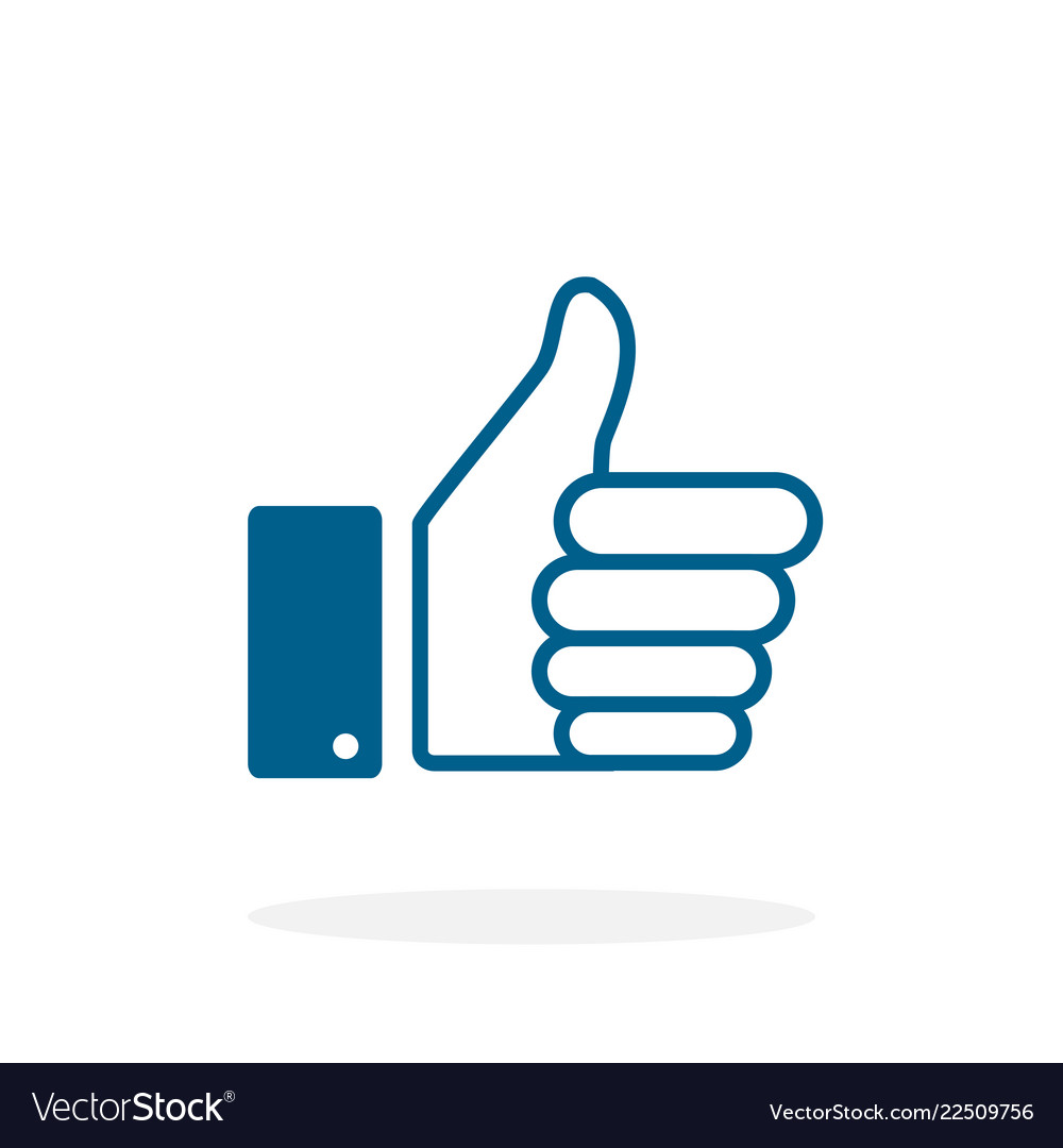 Like - icon like in flat style like icon thumb up