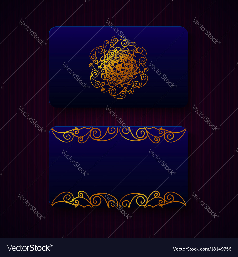 Luxury business cards templates Royalty Free Vector Image