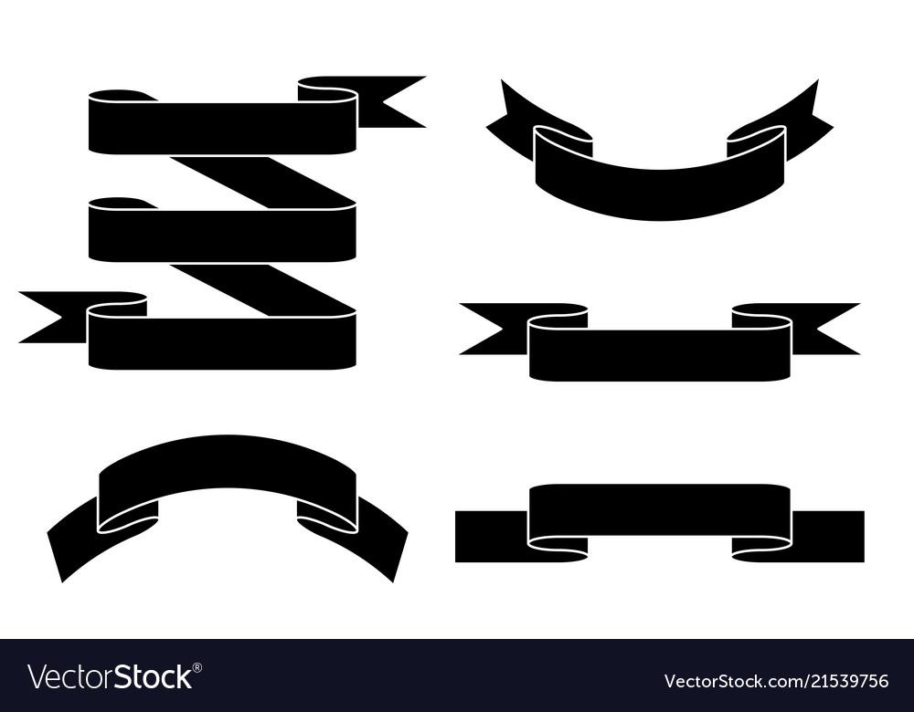 Paper scrolls flat black set