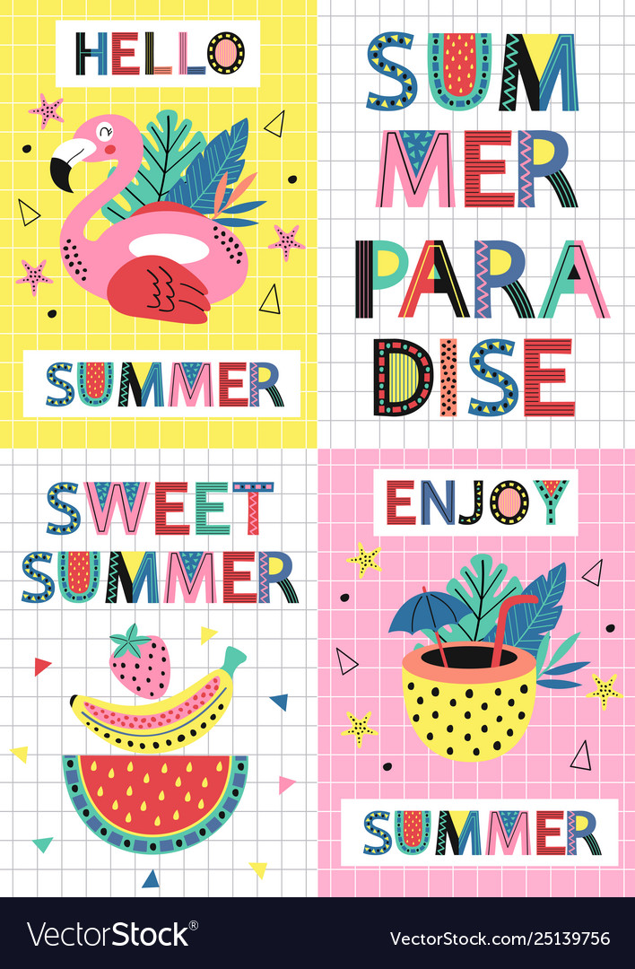Set summer paradise cards part 1