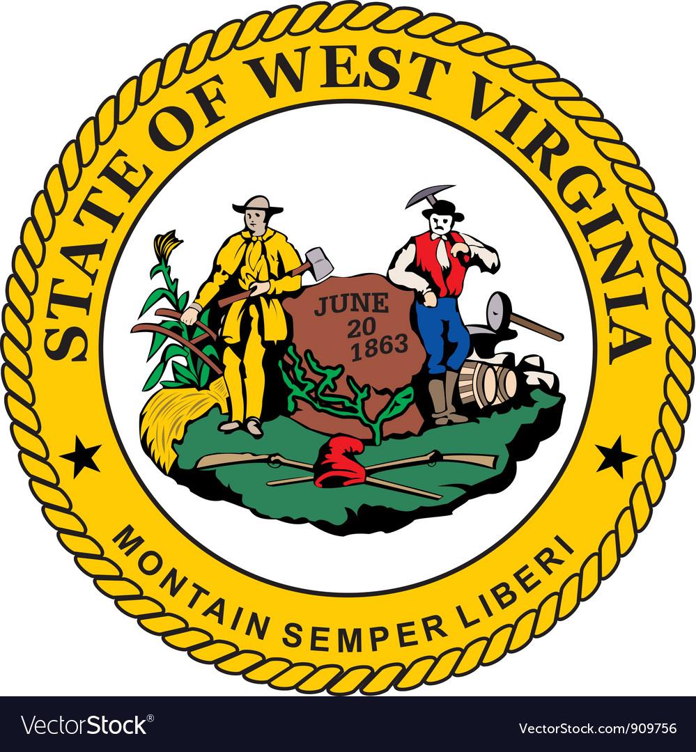 West Virginia seal vector image