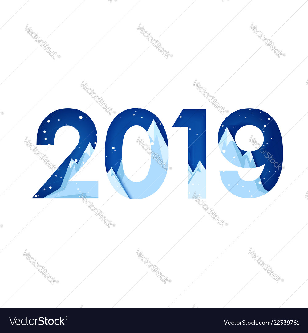 2019 new year on the background