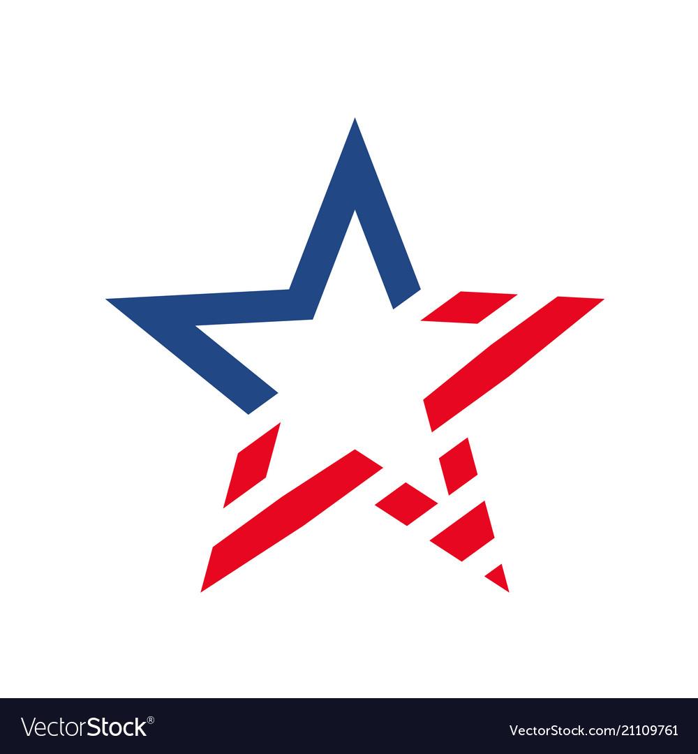 American star like usa flag