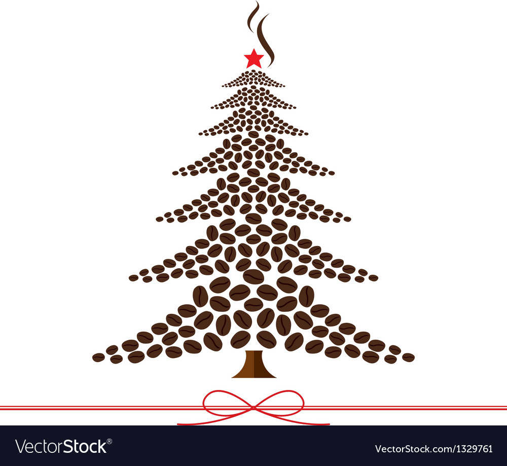 Coffee Christmas Tree.Christmas Tree Design From Coffee Beans