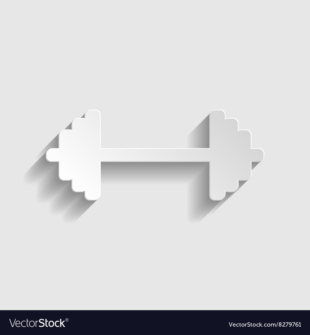 Dumbbell weights sign vector image