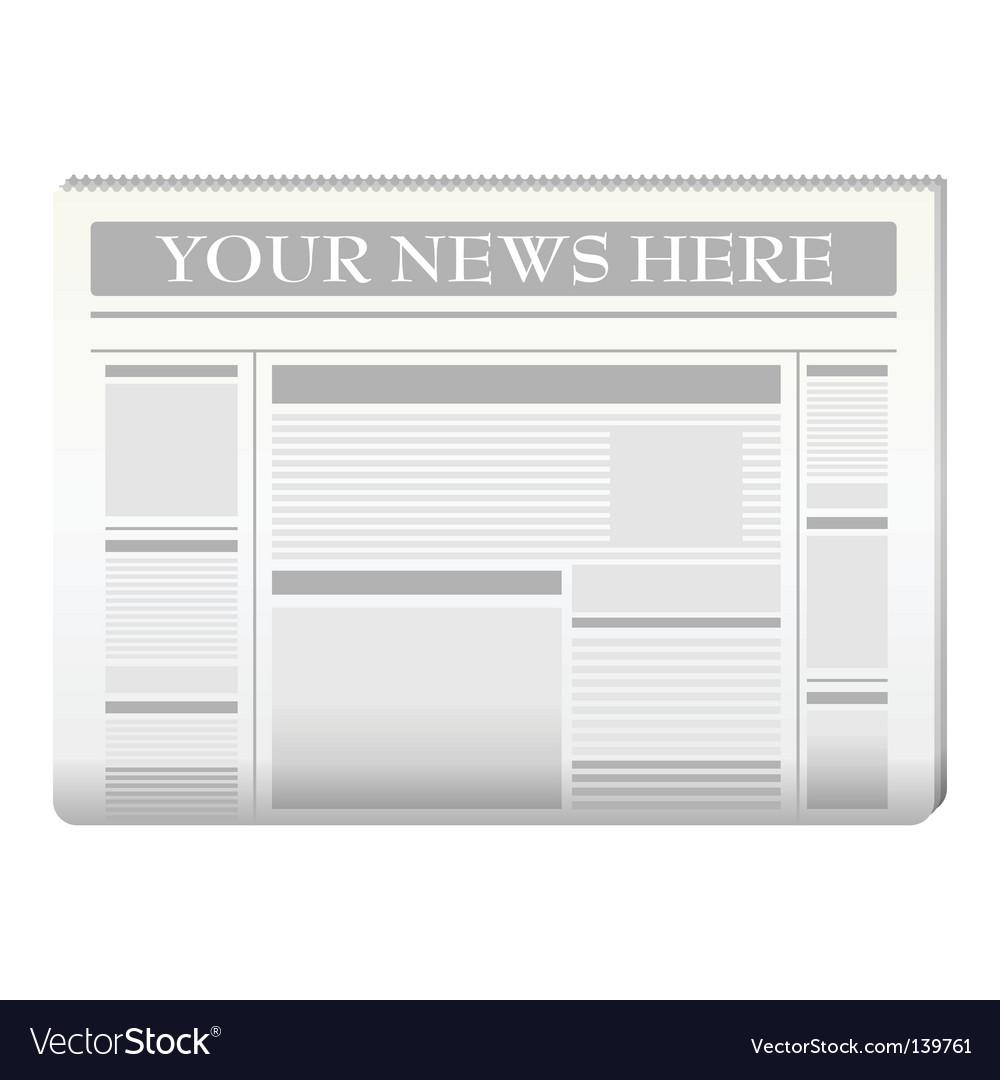 Newspaper Template Royalty Free Vector Image Vectorstock
