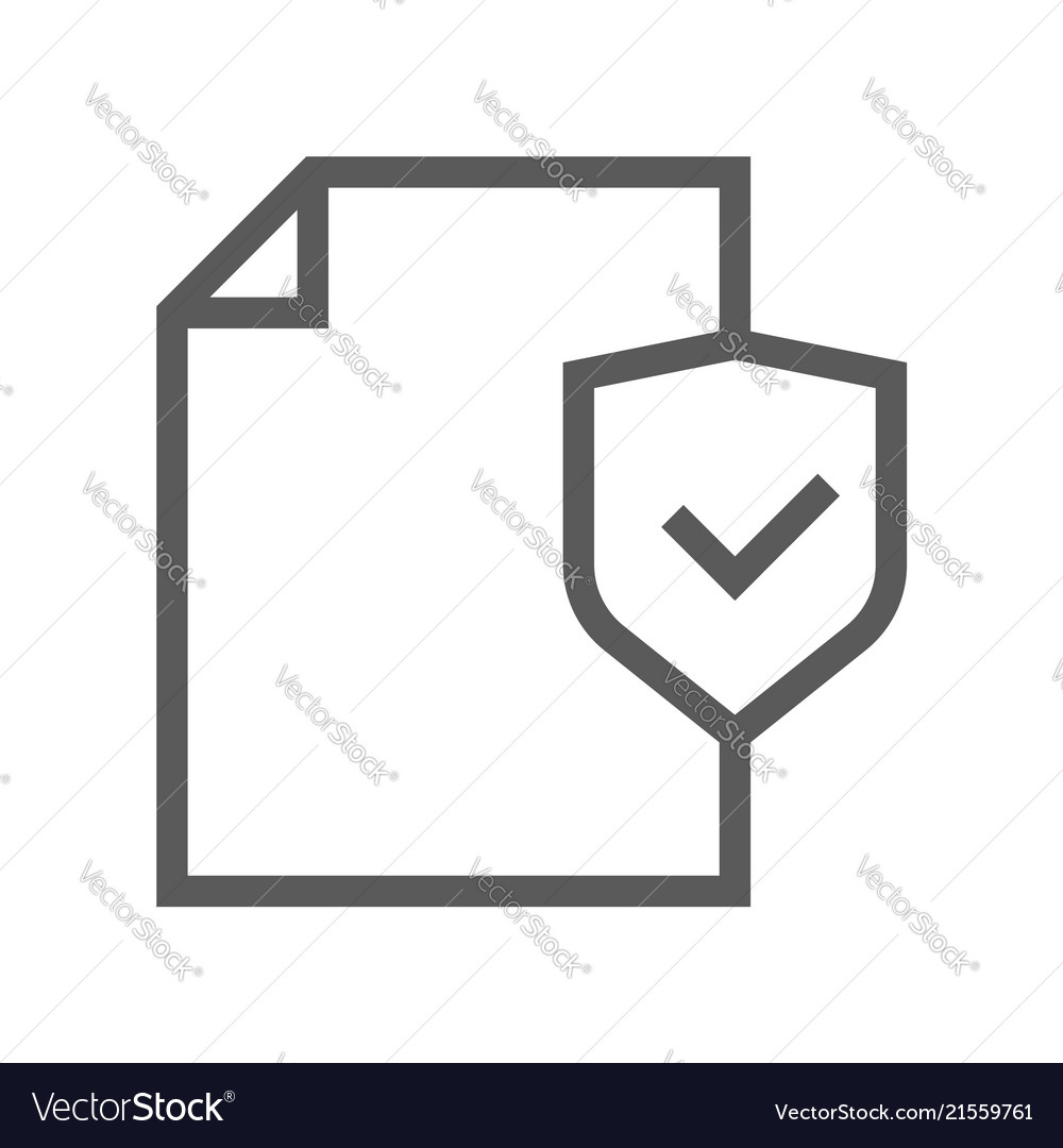 Security and protection line icon