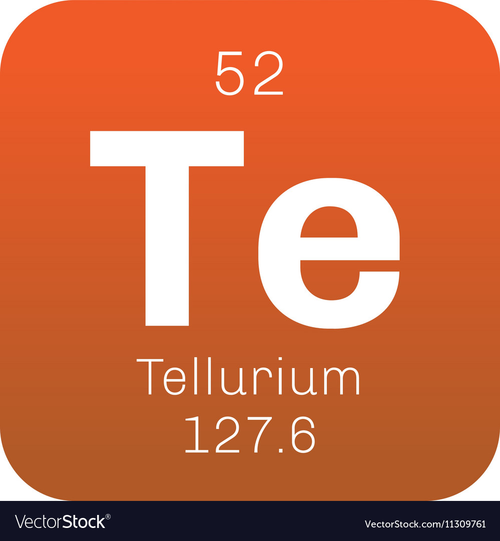 Tellurium Chemical Element Royalty Free Vector Image