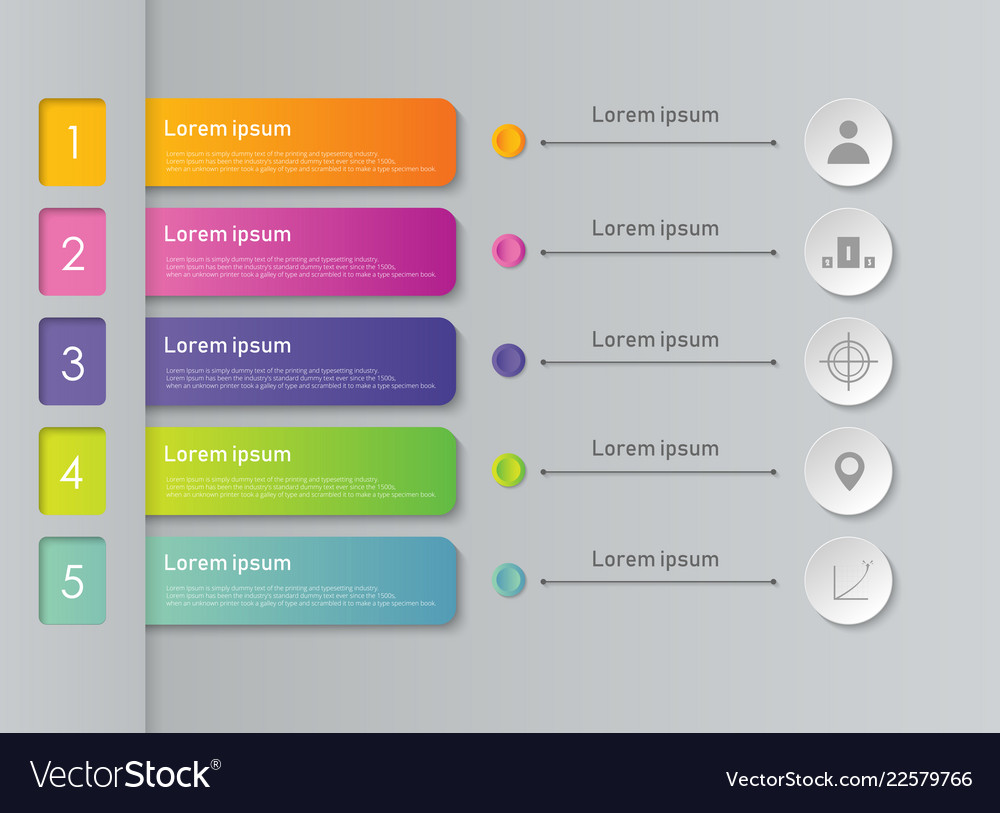 Abstract of colorful infographic business steps