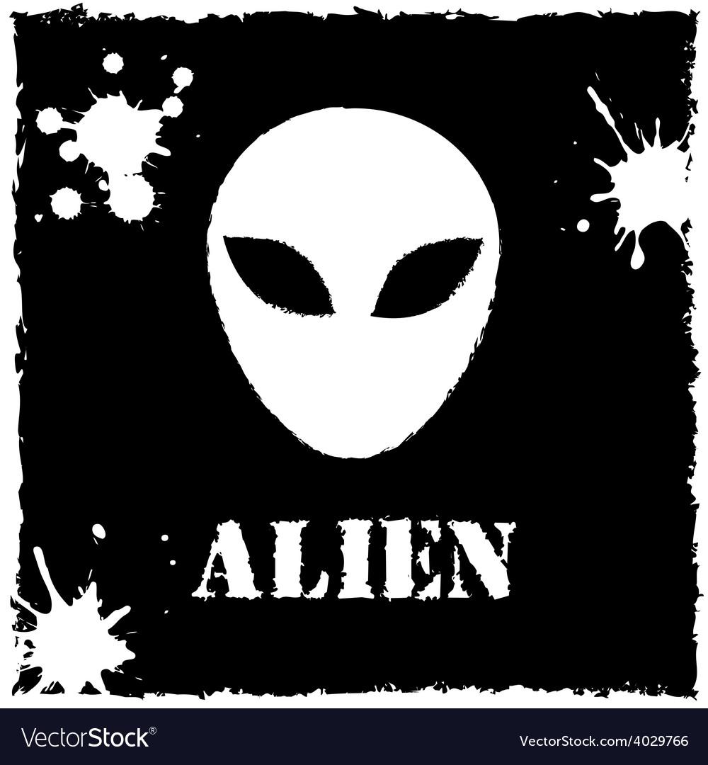 Alien logo on black background