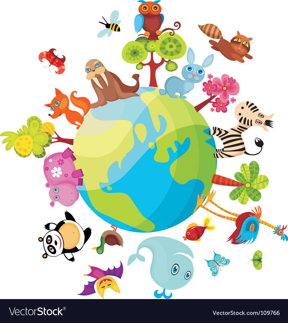 Animal planet vector image