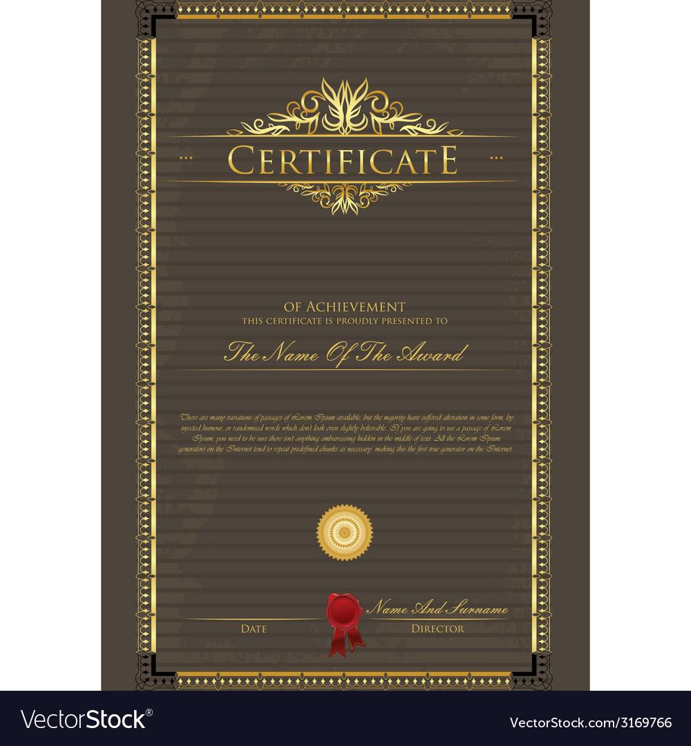 Certificate grunge