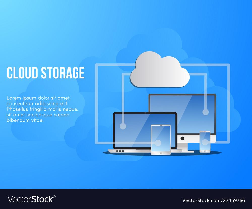 Cloud storage conceptual design template