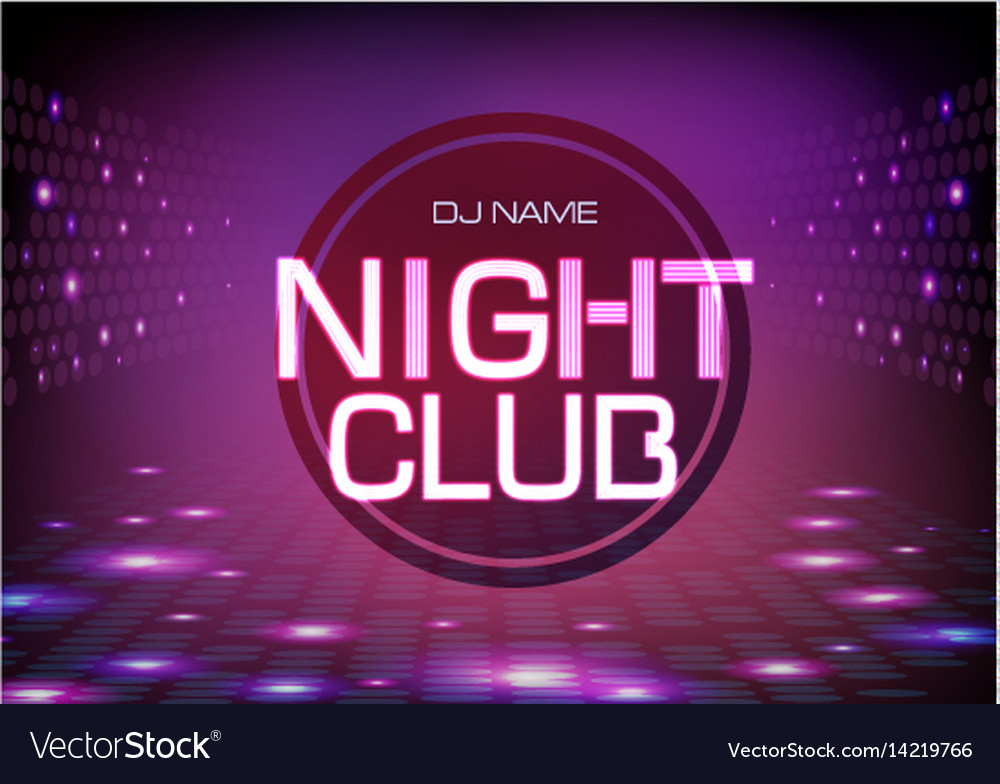 Disco abstract background neon sign night club