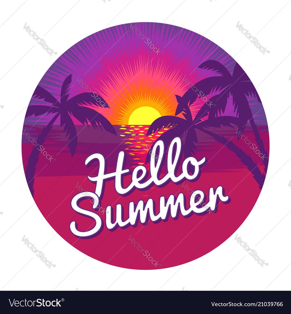 Hello summer label