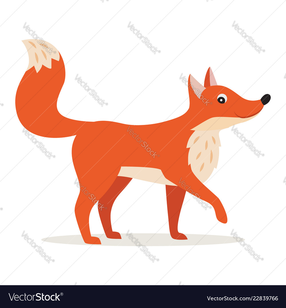 Icon of red fox isolated forest woodland animal