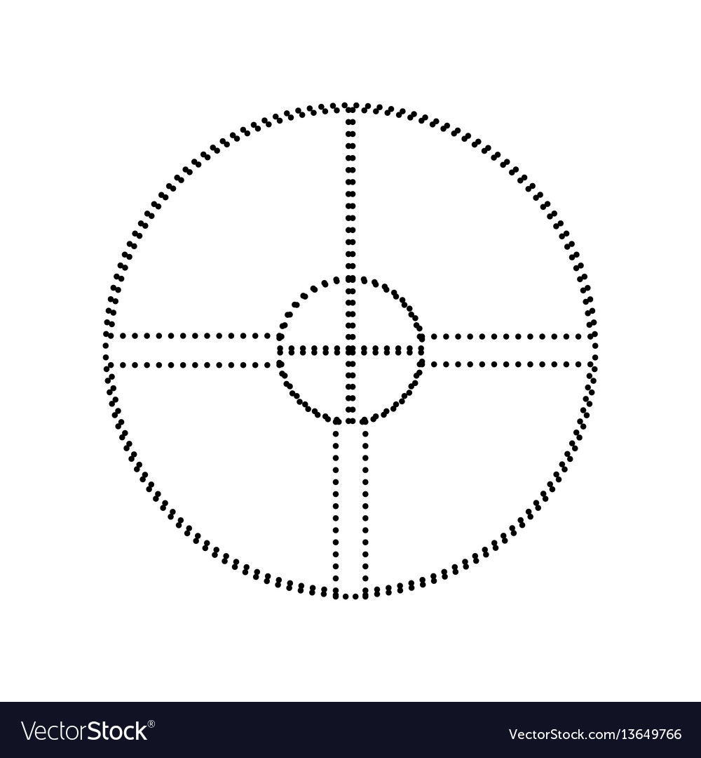 Sight sign black dotted icon vector image