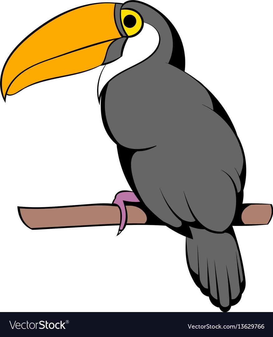 Toucan icon cartoon