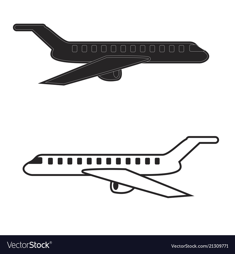 Aircraft icons mobile app printing web site