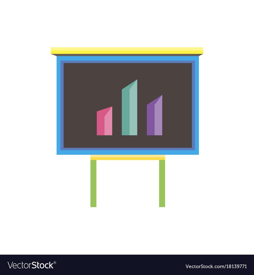 Analytics data icon business flat chart flat bar