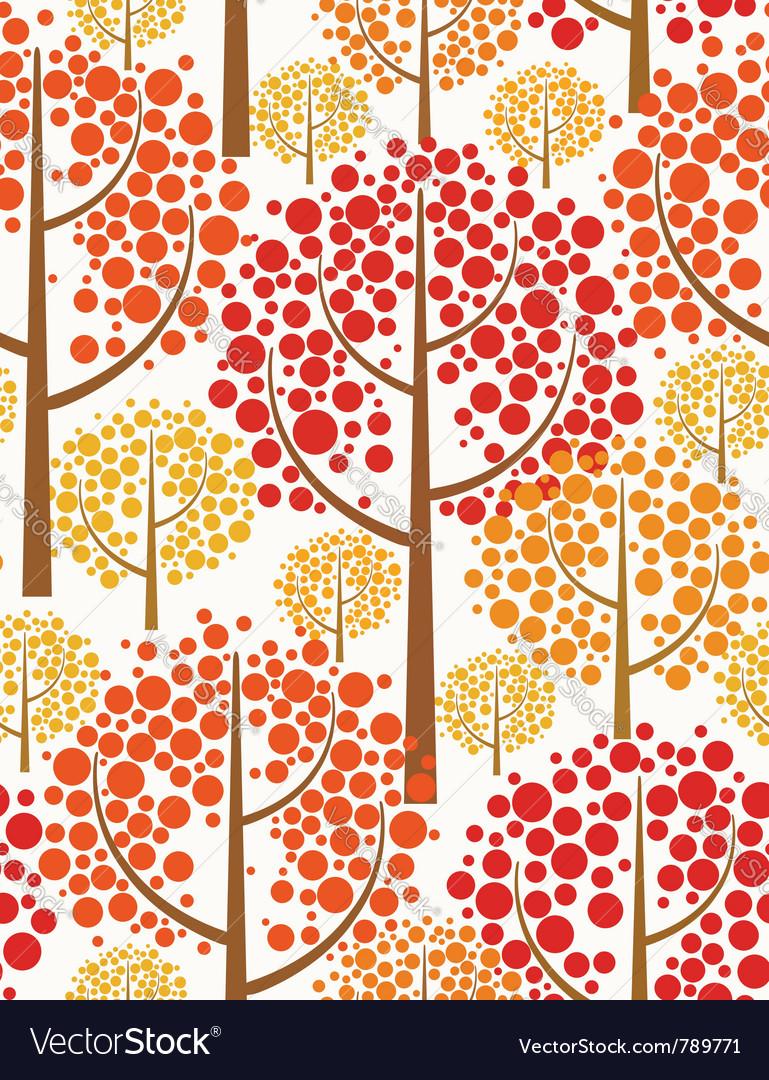 Autumn forest - seamless pattern