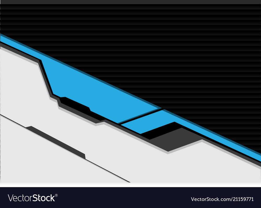 Blue white cyber futuristic with dark shutter