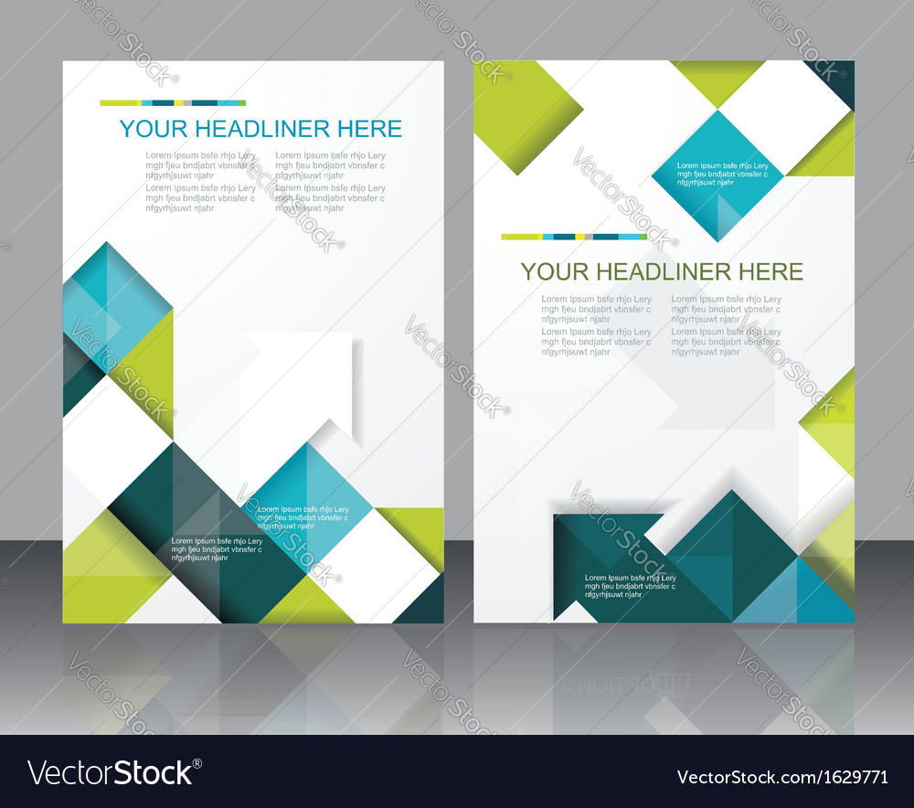 Brochure Template Design With Cubes And Arrows Vector Image - Brochure template design