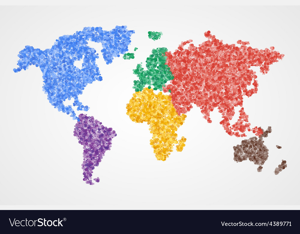 Dotted Round World Map Abstract Royalty Free Vector Image